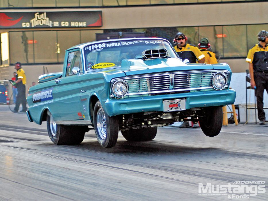 Falcon ranchero ford drag racing race car hot rod for Wallpaper drag race motor