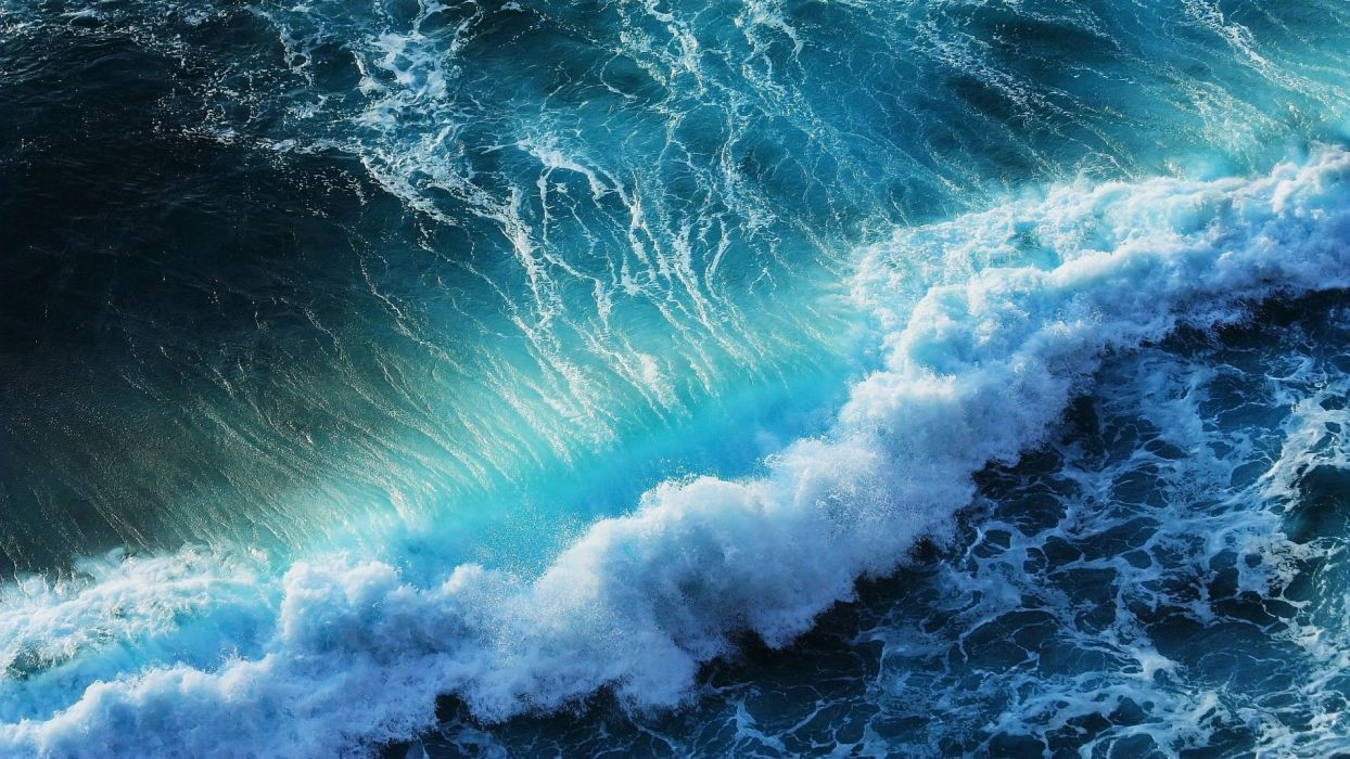 waves sea ocean splash spray beaches wallpaper