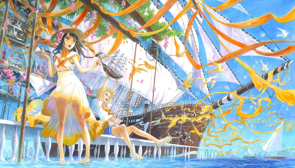 fuumi original girl wallpaper