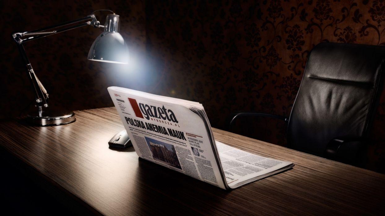 office newspaper wallpaper