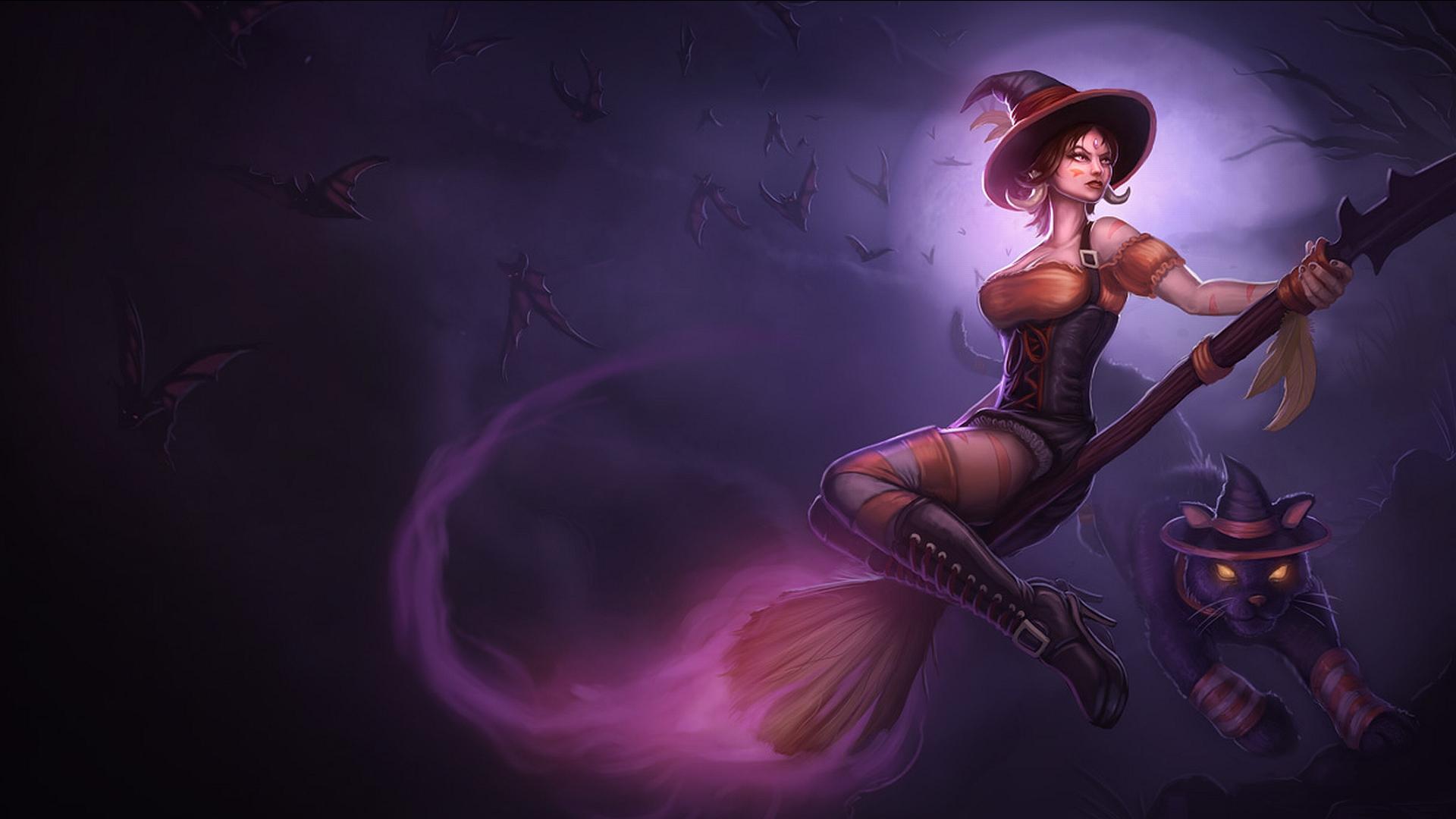 league of legends fantasy art dark horror witch wallpaper