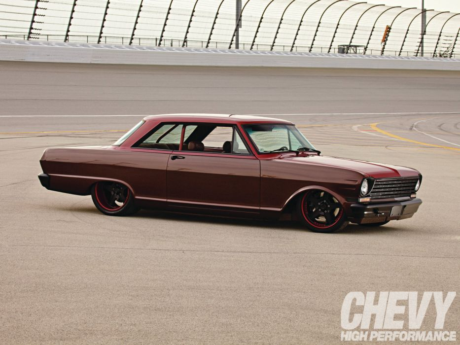 chevrolet nova hot rods muscle cars race track classic tuning wallpaper