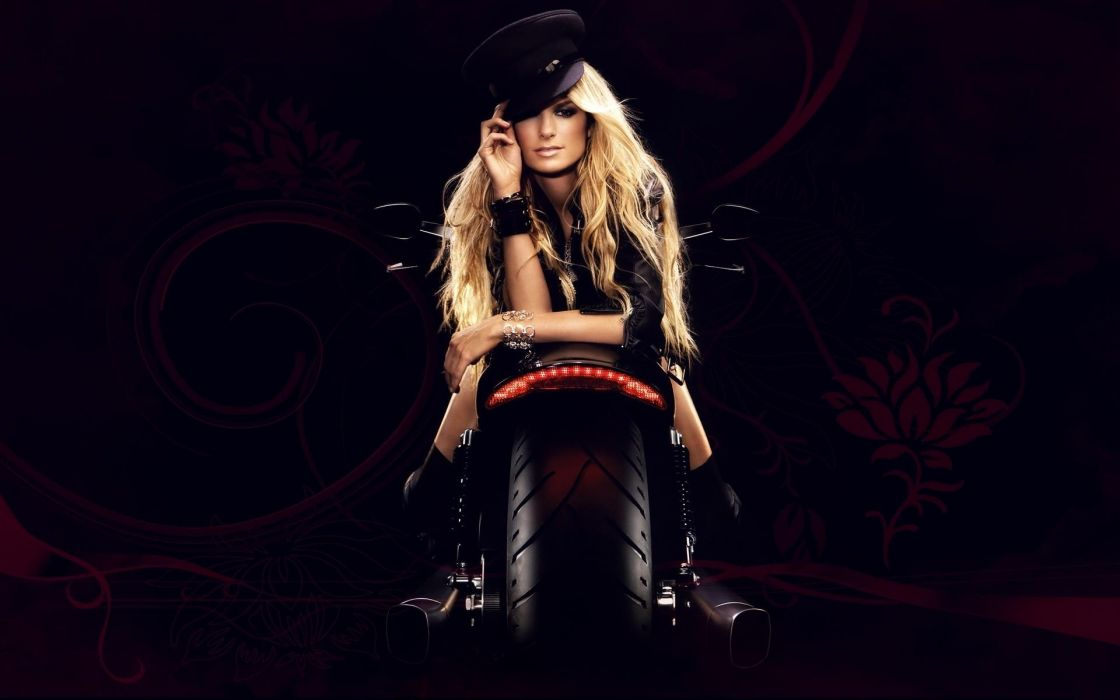 Marisa Miller celeb sports women models blondes sexy babes motorcycle bike face eyes pov wallpaper