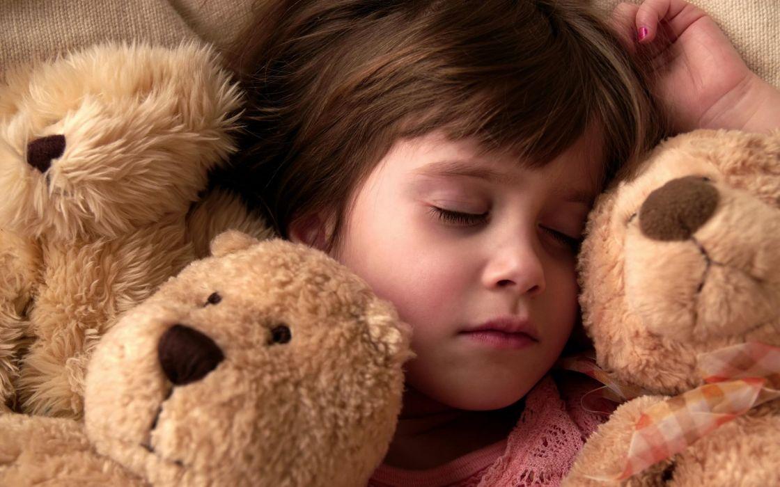 children toys teddt bear cute girl wallpaper