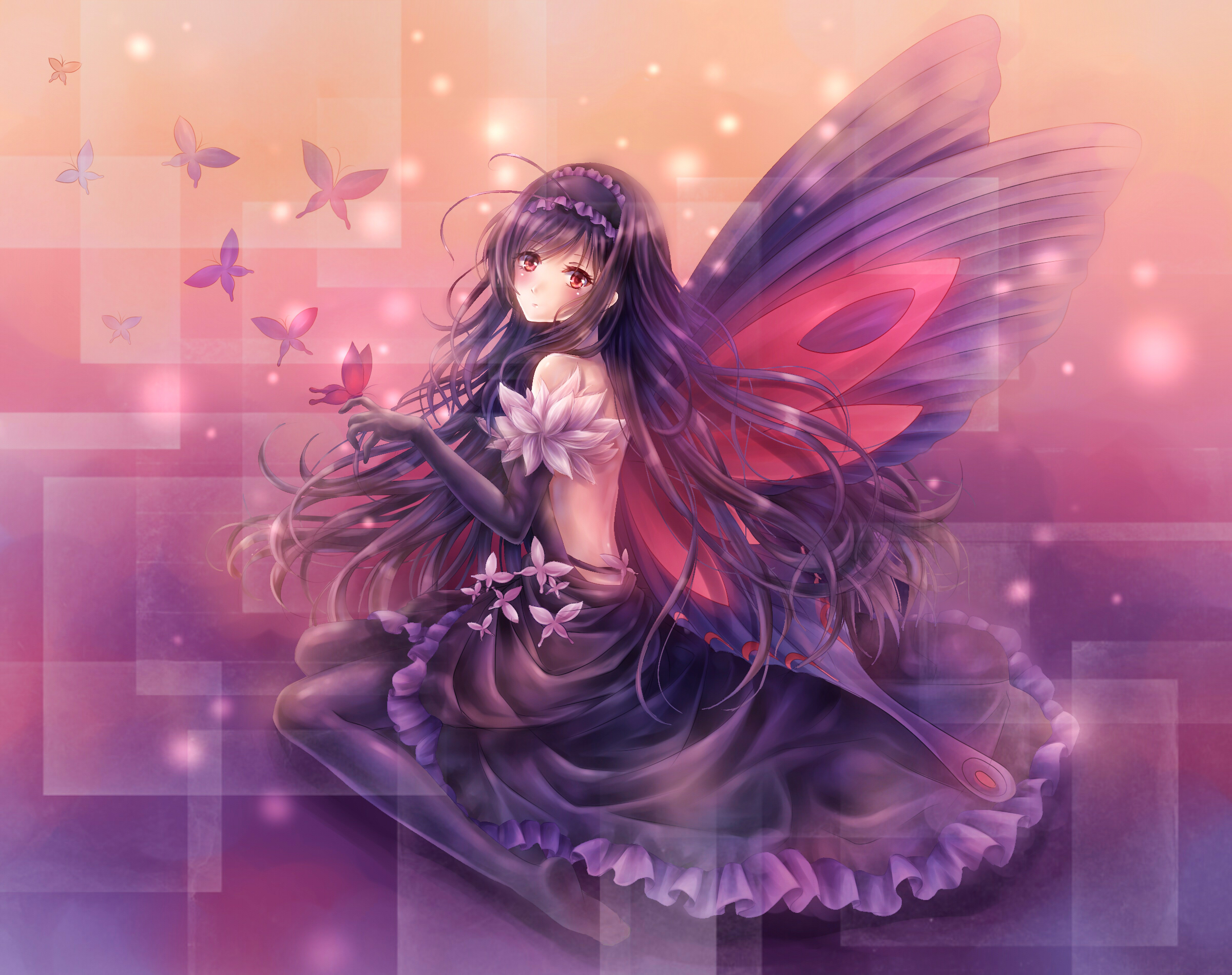 Accel world art girl fairy angel butterfly wallpaper ...