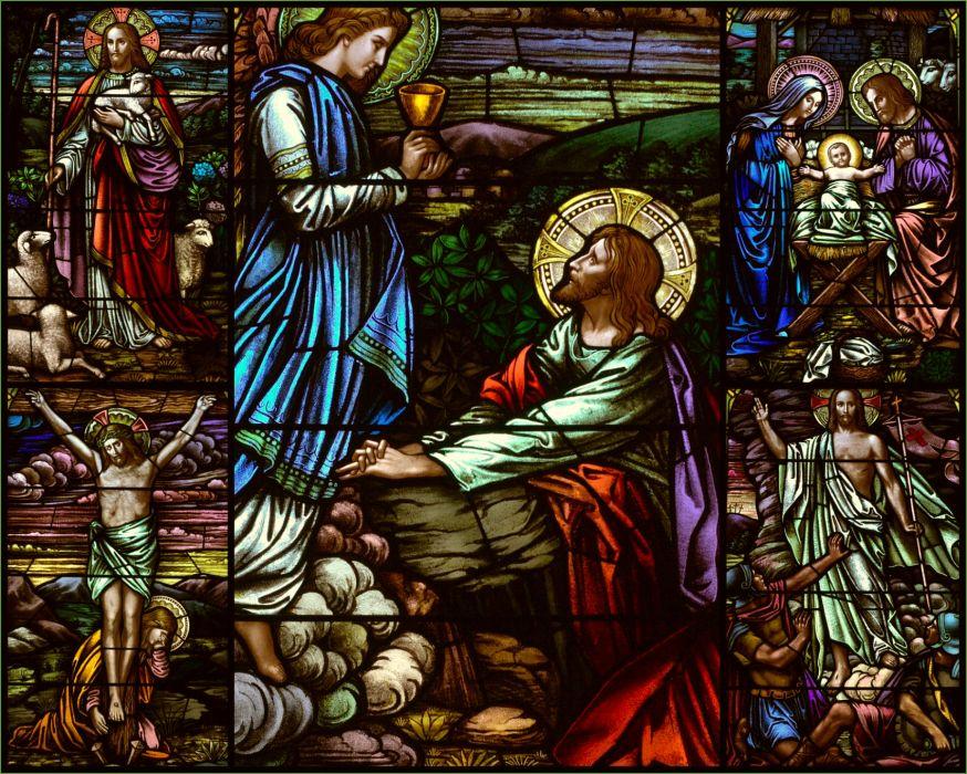religion stained glass jesus catholic christian art wallpaper