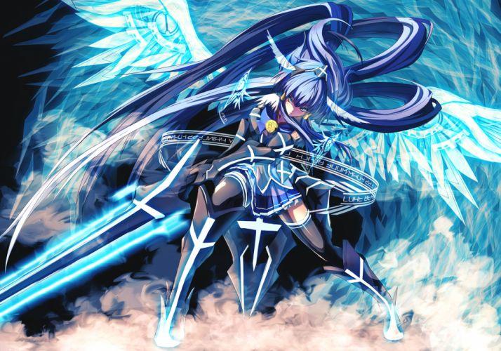 smile precure girl weapons sword art angels wallpaper