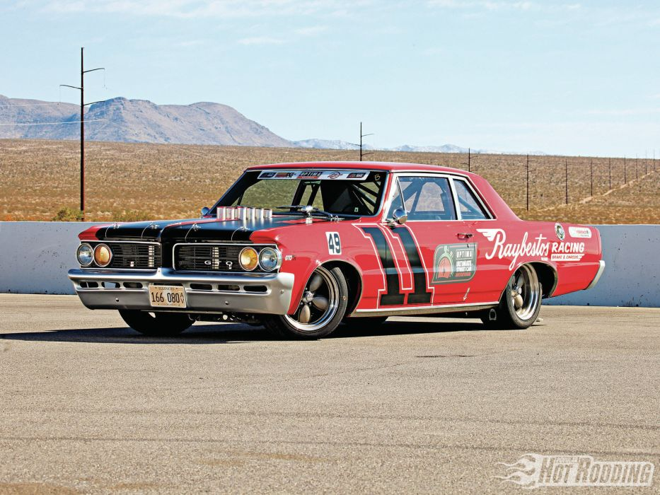 1964 Pontiac GTO racing race car muscle hot rod classic wallpaper