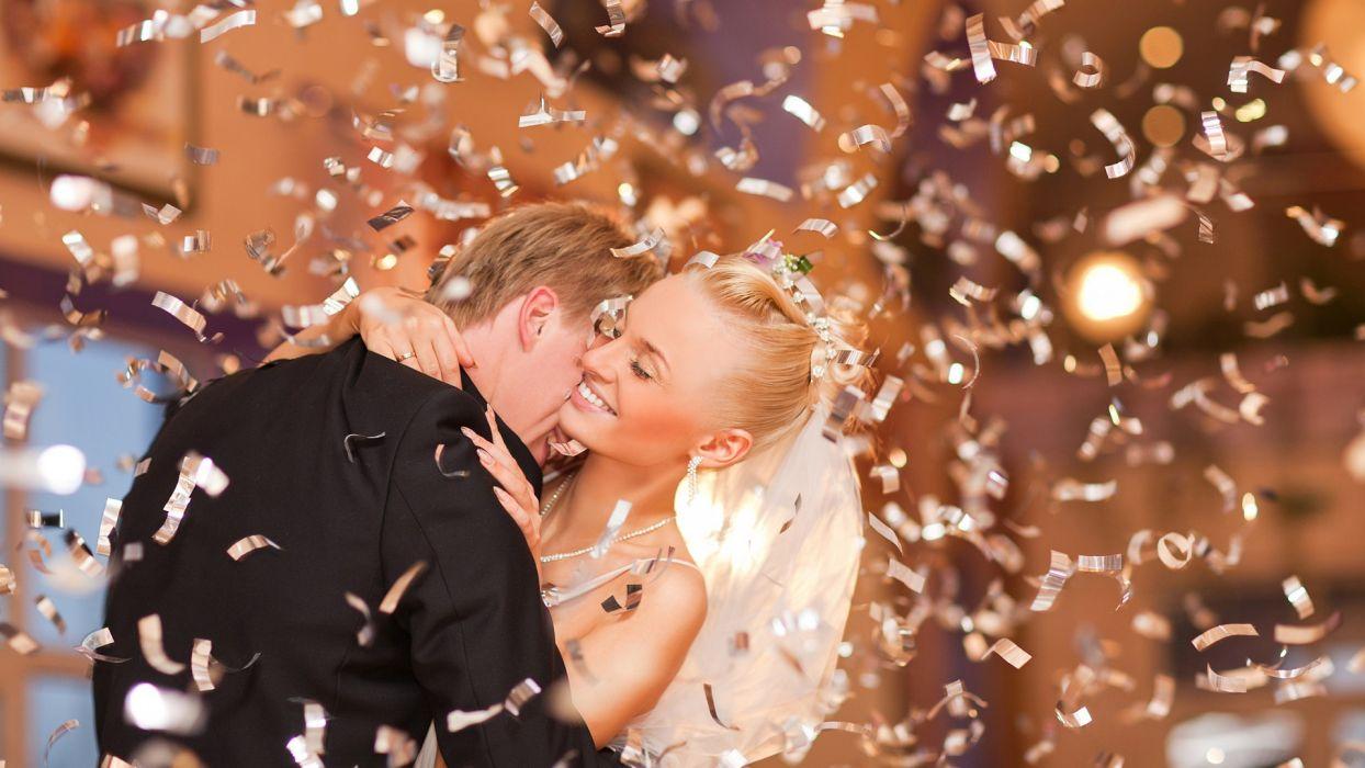 bride wedding celebration bokeh love romance women babes blondes men males emotion wallpaper