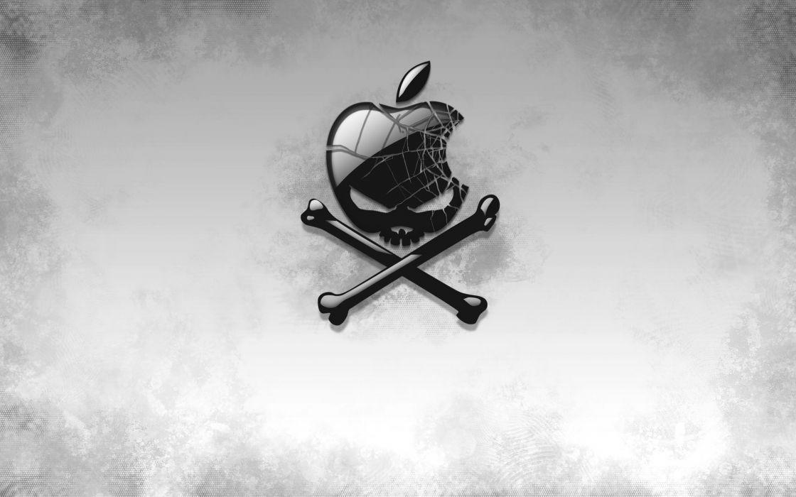 Apple technology skull logos wallpaper