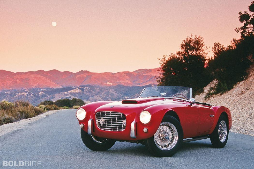 1953 Siata 208S Spyder retro classic roads red wallpaper
