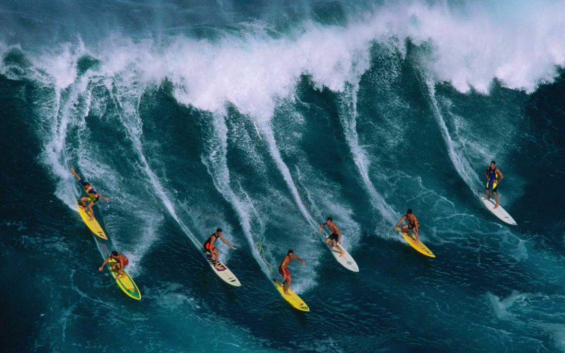 surfing people ocean sea waves nature wallpaper