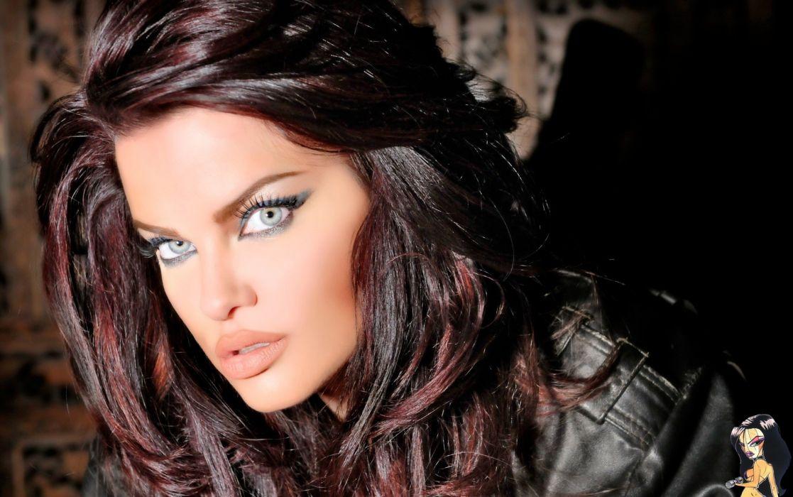 dana hamm glam models women sexy babes redheads face eyes pov wallpaper