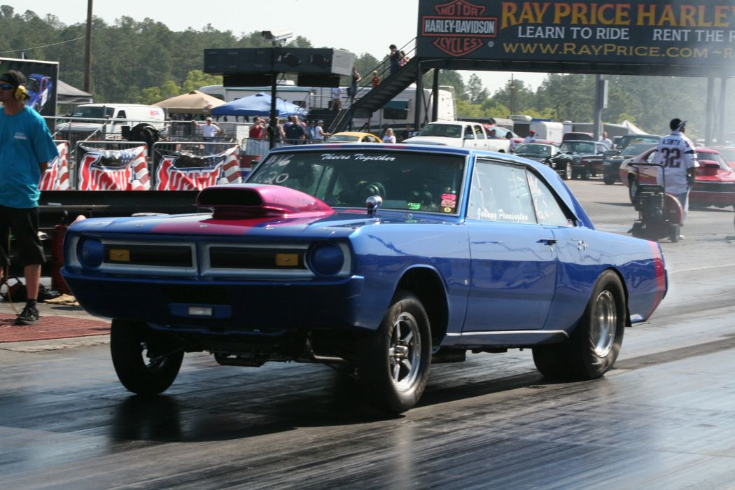 1970 Dodge Dart Swinger drag racing race track hot rods muscle cars wallpaper