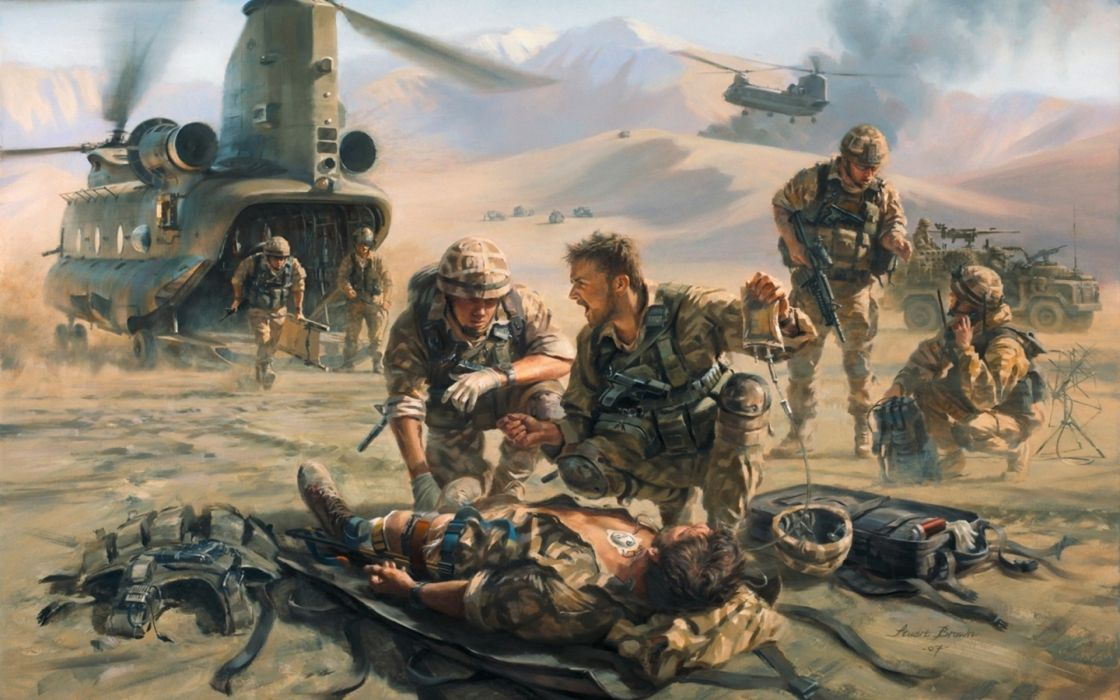 art painting military battles war warriors soldiers vehicles helicopters weapons landscapes wallpaper