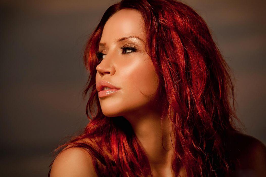 Bianca Beauchamp canada women models fetish redheads sexy babes face wallpaper