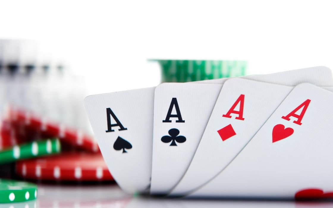 aces card poker chips wallpaper