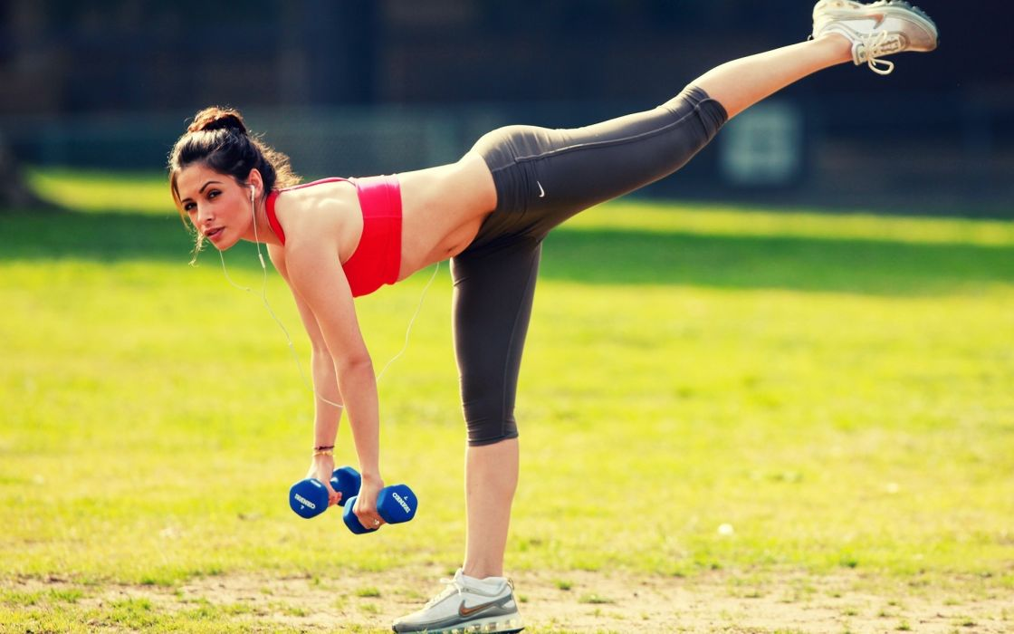sports fitness women models brunettes sexy babes wallpaper
