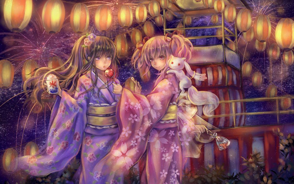 kaname shoujo madoka magica wallpaper