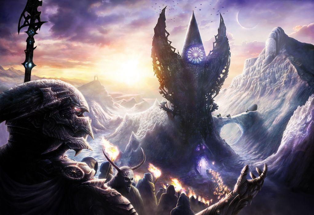 dark horror fantasy art evil wallpaper