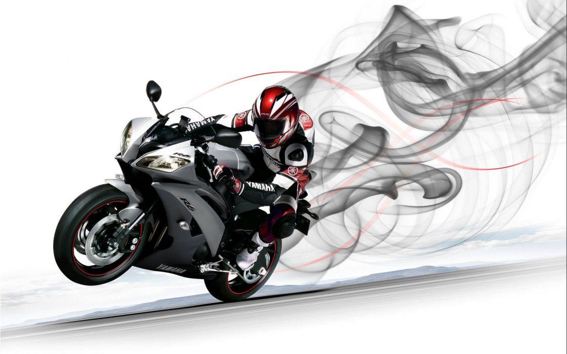 Yamaha R6 Sportbike Wheelie wallpaper