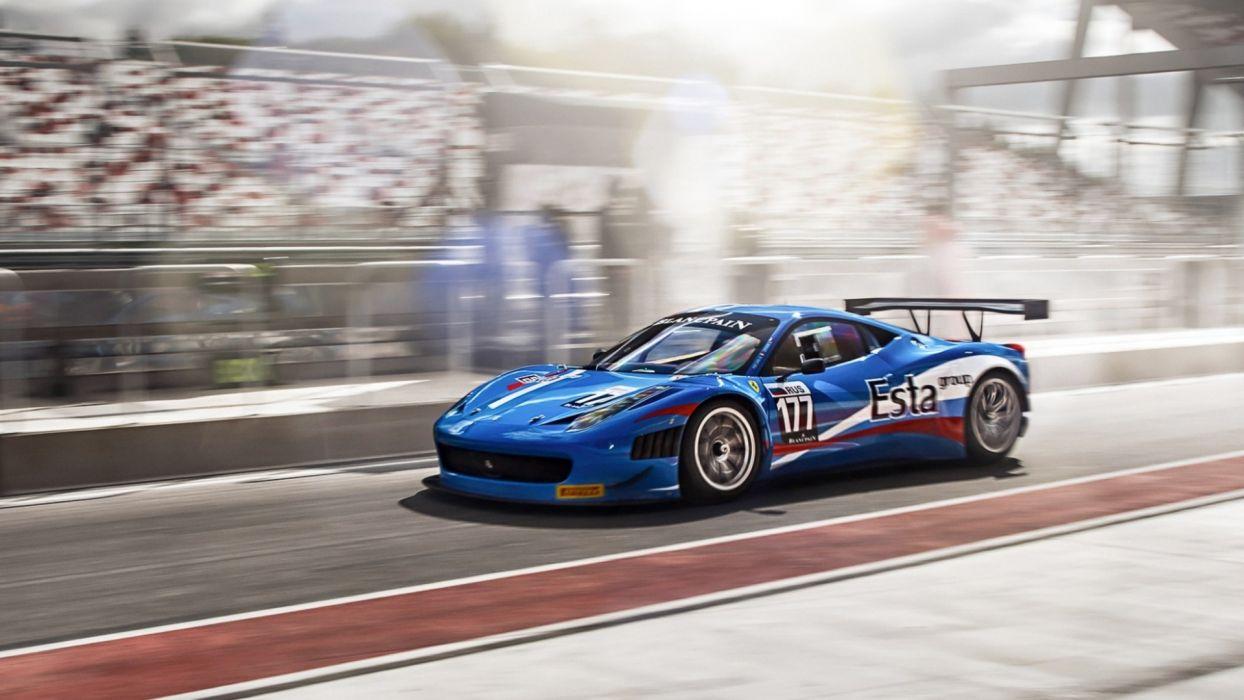 ferrari racing race wallpaper