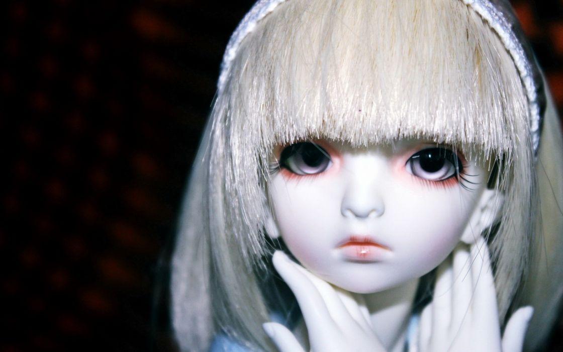 girl toys doll women face eyes wallpaper