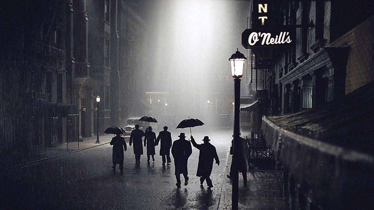 cities roads storm rain black bw wallpaper