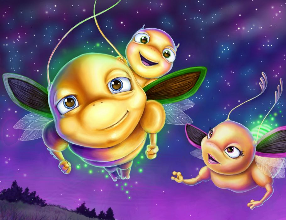 insect firefly cute wallpaper
