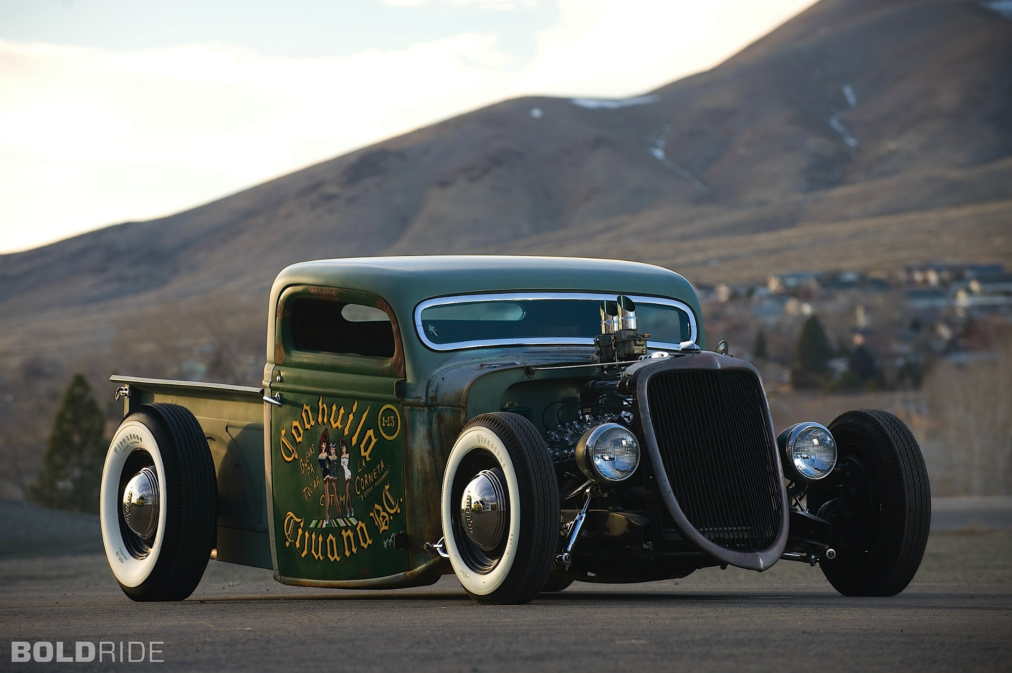 1935 Ford V8 Rat Rod Pickup wallpaper | 2000x1331 | 35955