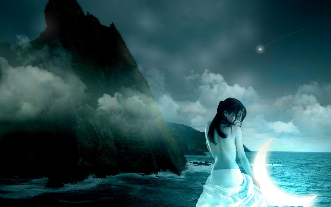 Goddess of the moon wallpaper