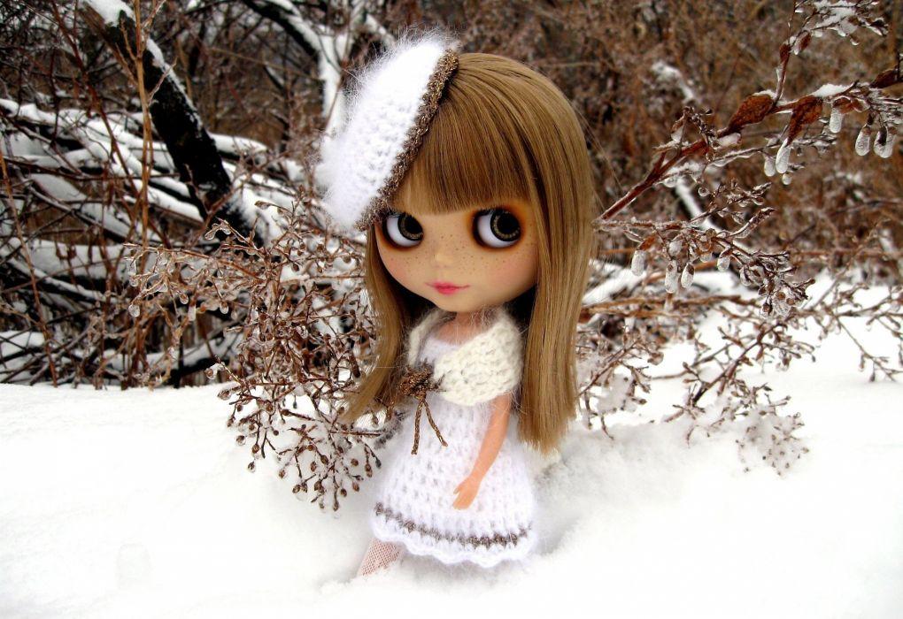 toys dolls winter girl wallpaper
