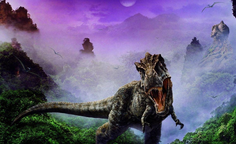 dinosaur jaws fangs fog wallpaper