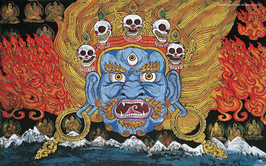 dark skull demon wallpaper