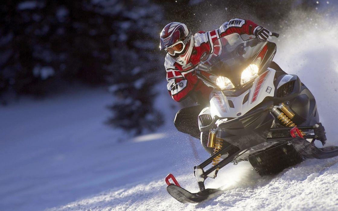 snowmobile winter wallpaper