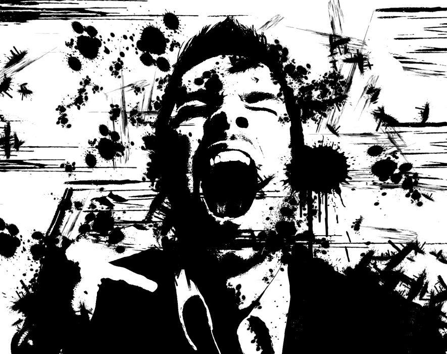 dark blood screaming murder wallpaper