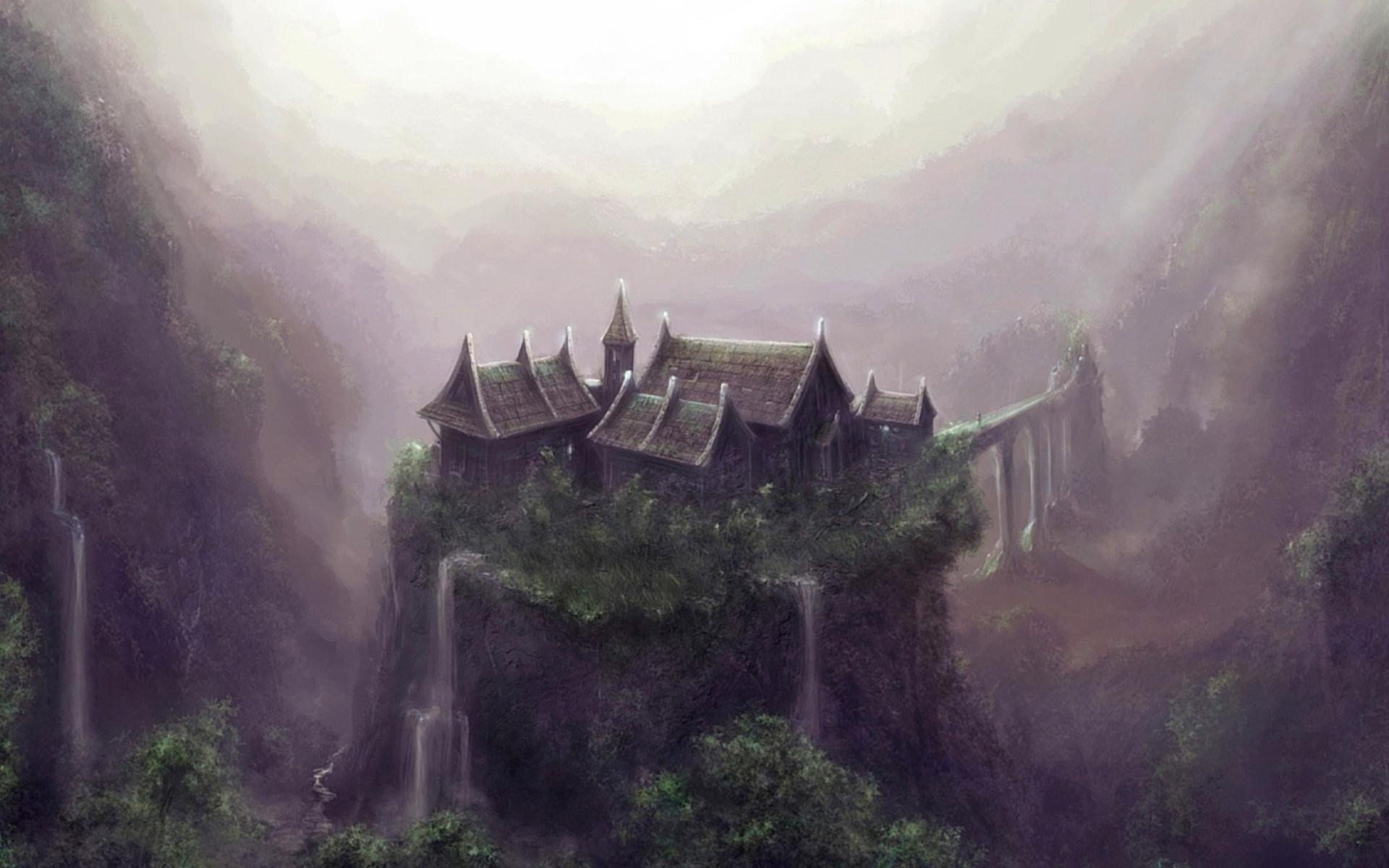 house wudang mountain china art fantasy wallpaper | 1920x1200