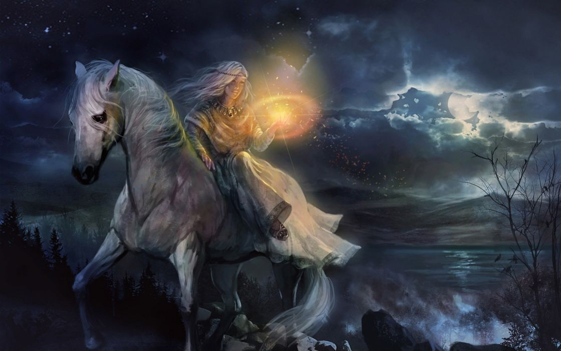 Women Horses Anime Fairy Tales 1680x1050 Wallpaper Animals HD