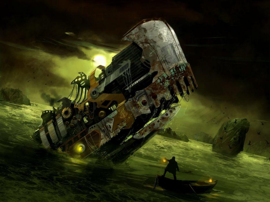 sci fi steampunk wallpaper