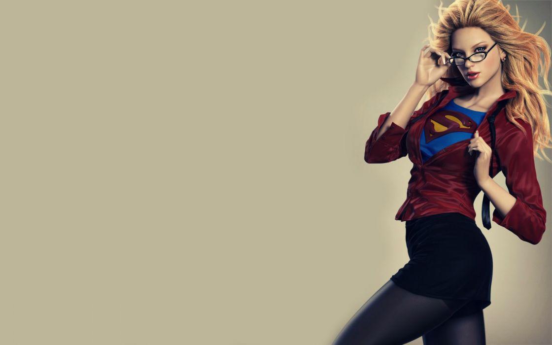 Supergirl Blonde Glasses wallpaper