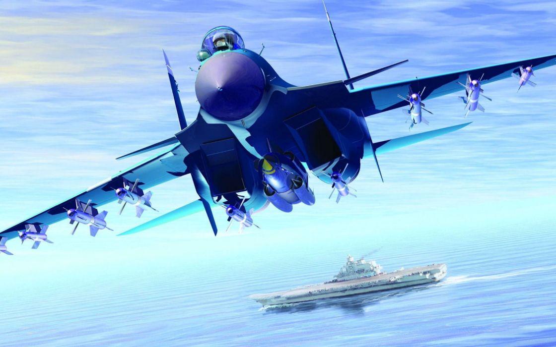 Su-33 Flanker-D fighter jet wallpaper