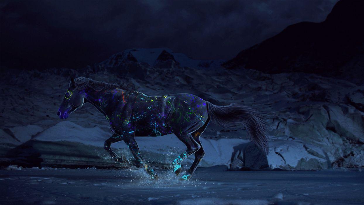 horses fantasy art wallpaper