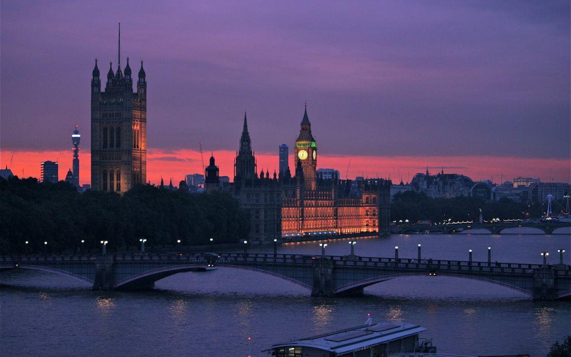 Thames Great Britain England London capital bridge river wallpaper