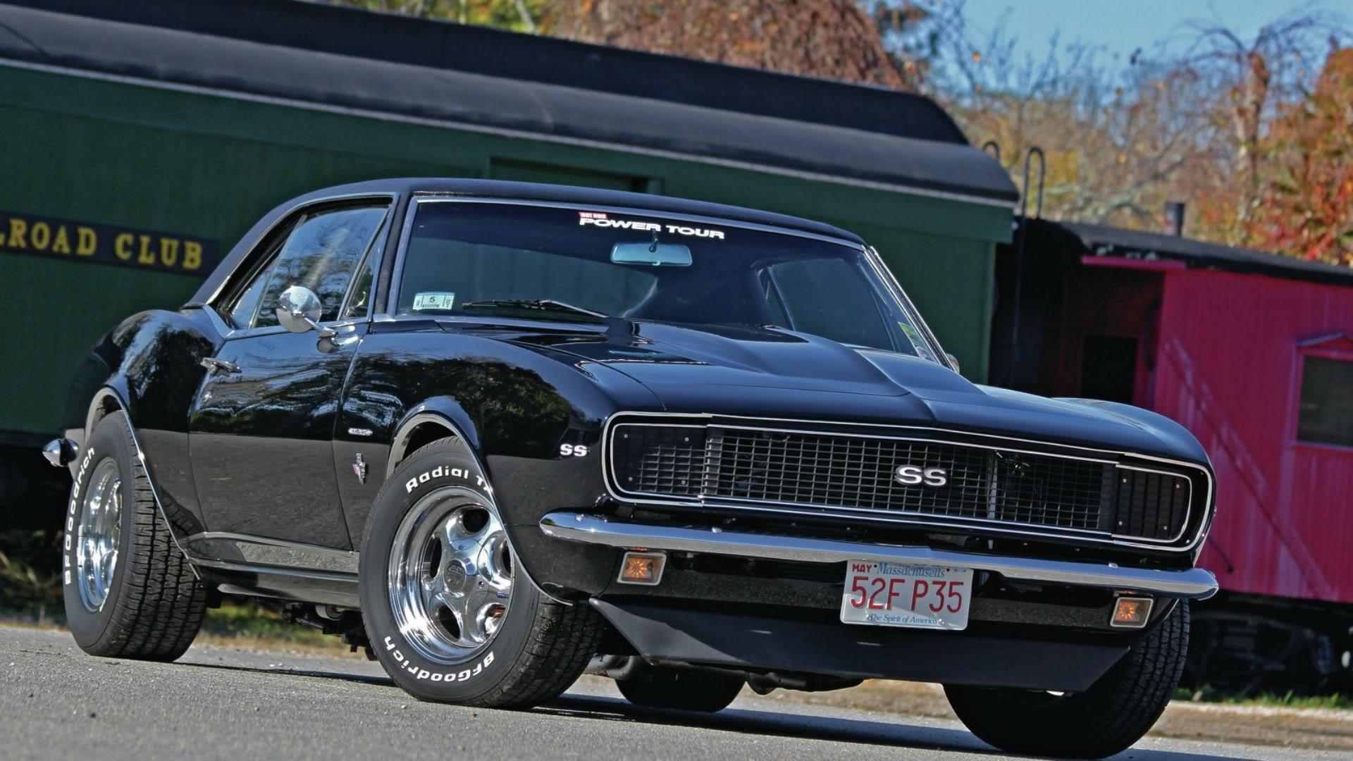 1967 black chevy camaro ss wallpaper 1920x1080 36925