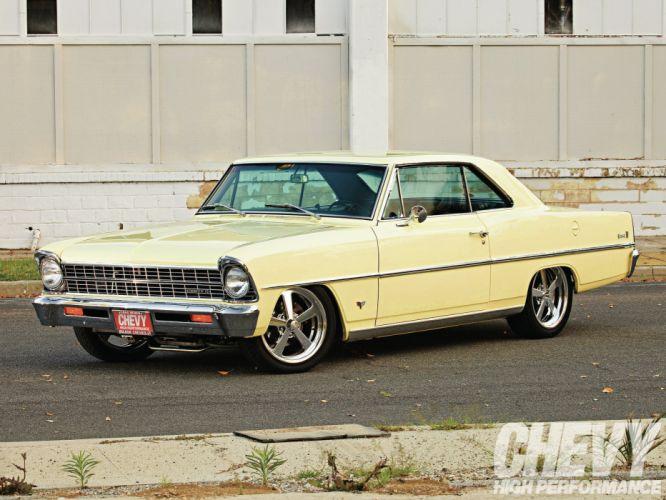 1967 Butternut Chevrolet Nova d wallpaper