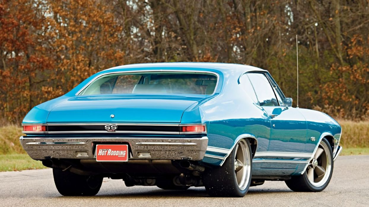 1968 SkyBlue ChevyChevelle4 27 SS wallpaper