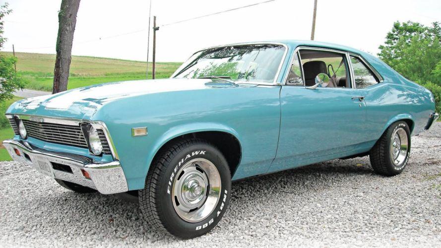 1968 Teal Chevrolet Nova wallpaper