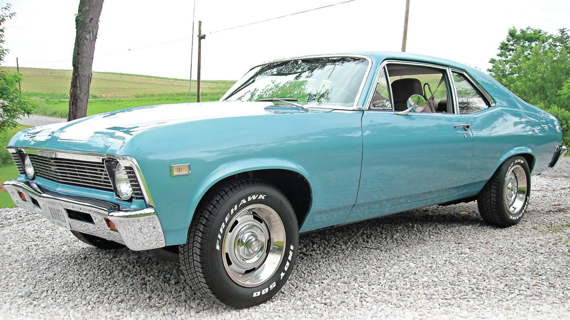 1968 Teal Chevrolet Nova Wallpaper 1920x1080 36943
