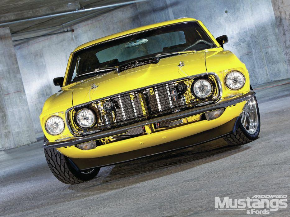 1969 ford mustang sportsroof wallpaper