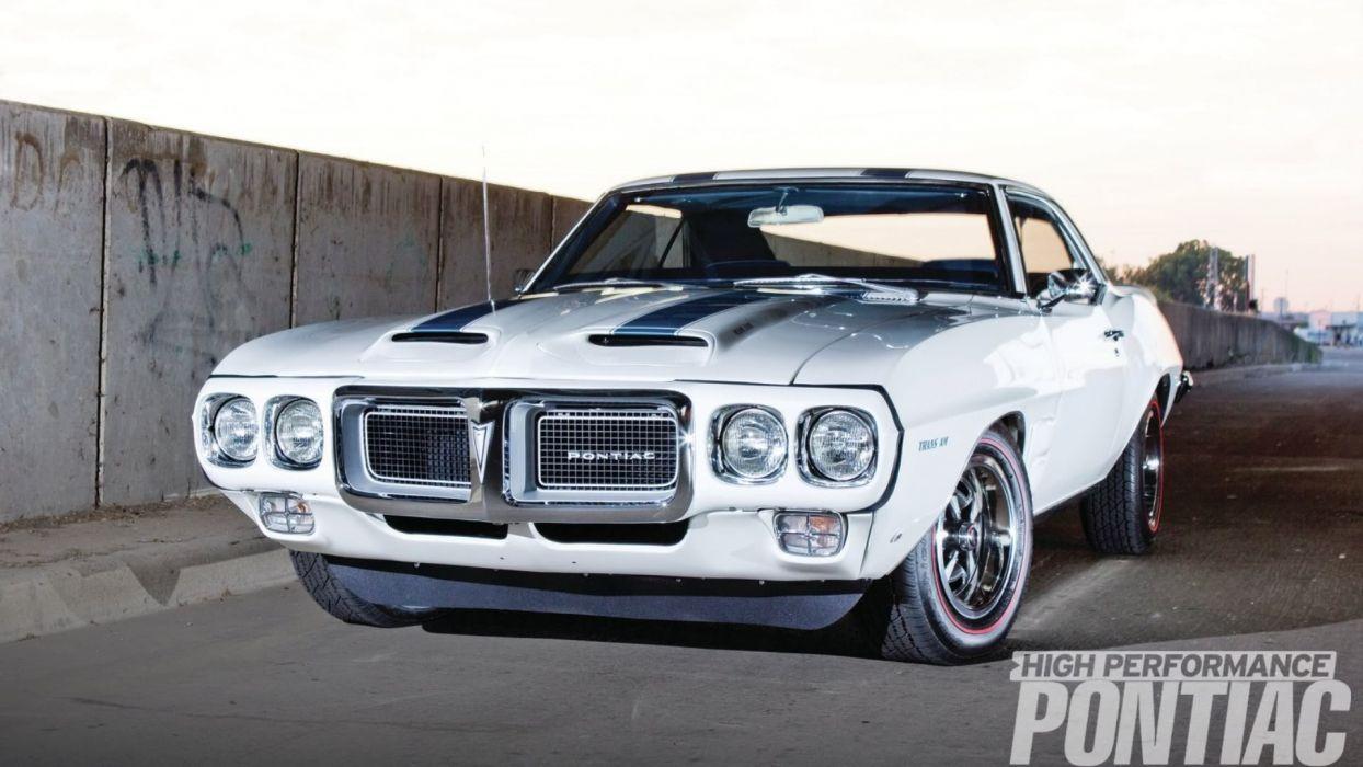 1969 White Blue Pontiac TransAm wallpaper